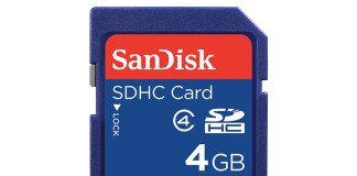 Sandisk SDHC 4GB