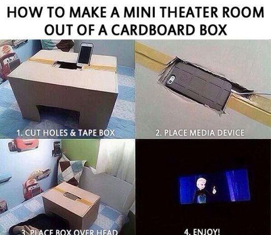 Mini Theater from Cardboard Box