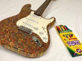 colored pencil guitar