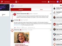 Parler website beta desktop