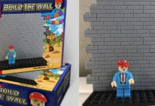 Trump build the wall LEGO toy