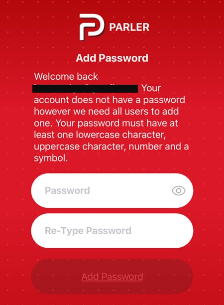 parler password