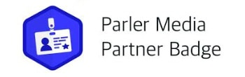 Parler Media partner badge