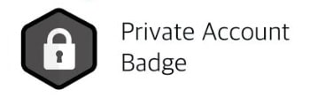 Parler Private account badge