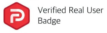 Parler verified real user badge