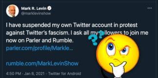 Mark Levin Suspends Twitter Account